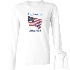 Anchor In America Long Sleeve Tee