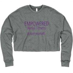 cropped crewneck sweatshirt
