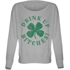 Drink Up Womens Long St Pattys