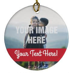 Custom Photo Happy Holidays Decor