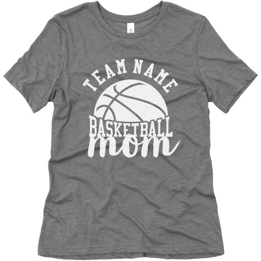 91f924e825b Custom Team Basketball Mom Ladies Relaxed Fit Super Soft Triblend T-Shirt