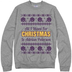 Football Ugly Sweater A. Peterson