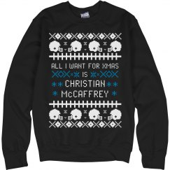 I Want Christian McCaffrey For My Ugly Xmas Sweater