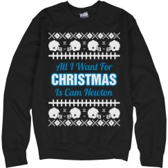 Football Ugly Sweater C. Newton