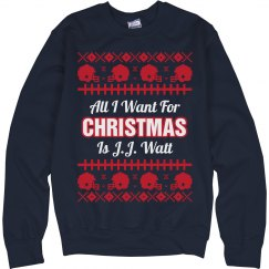 Football Ugly Sweater J. Watt
