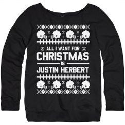 Justin Herbert Ugly Christmas Sweater