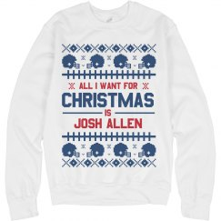 Josh Allen Football Fan Ugly Sweater