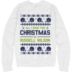Russell Wilson For Christmas Sweater