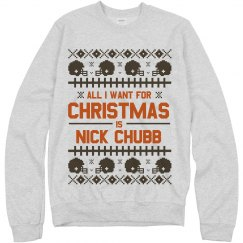 Nick Chubb For Christmas Sweater