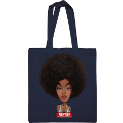 Afro Puff Tote Bag
