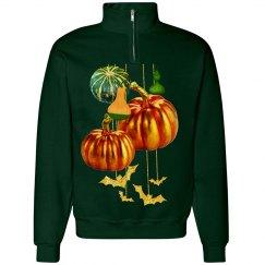 Halloween Pumpkins Gourds & Bats