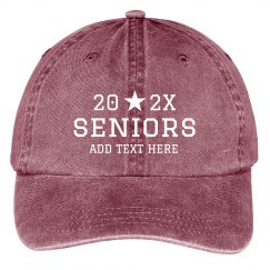 Seniors Custom Baseball Cap