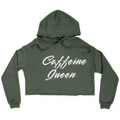 Caffeine Queen Comfy Crop Sweatshirt