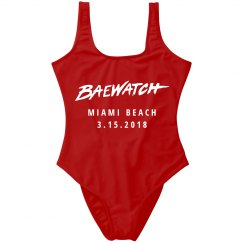 Custom Spring Break Baewatch Design
