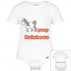 I poop rainbows onsie