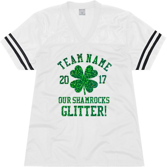 Glitter Custom Drinking Team Name Ladies Relaxed Fit Mesh Football Jersey d01b40228