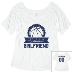 Custom Player Name Basketball Girlfriend Shirt