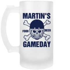 Frosted Football Stein