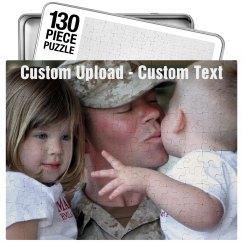 Custom Photo Military Dad Gift
