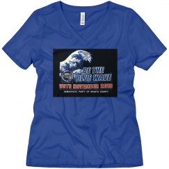 WOMANS DARK BLUE WAVE TEE