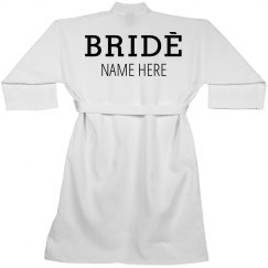 Bride Custom Spa Robe