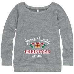 First Family Christmas Maternity Sweater