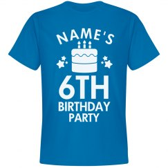 Custom Name 6th Birthday Party Tee