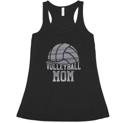 Metallic Sporty Volleyball Mom