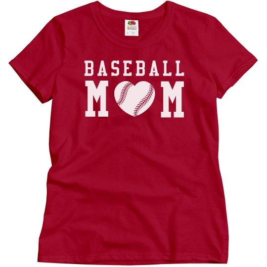 A Baseball Mom's Love and Pride Inexpensive Shirts