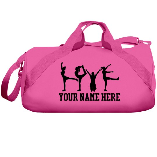 A Cheerleader's Custom Cheer Bag With Name
