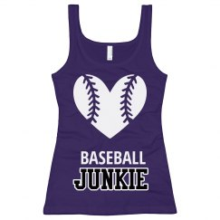 Junior Longer Purple Baseball Tank Top
