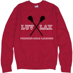 LUV LAX Sweatshirt Red