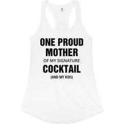 One Proud Mother Racerback