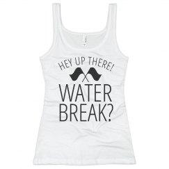 Guard Practice Water Break Girl Funny Tank Top