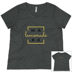 Make Lemonade T-Shirt Scoop Neck Plus Size