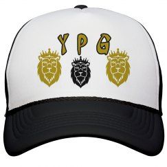 YPG YUNGBEA$T PROMO ASIAN 3-LION B&W GOLD SNAPBACK