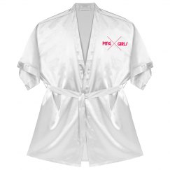 "PMG GIRLS ""RASBERRY"" SATIN ROBE"