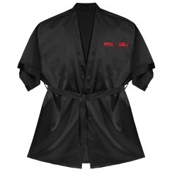"PMG GIRLS ""PHP BLACK"" SATIN ROBE"