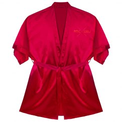"PMG GIRLS ""FEBURARY"" SATIN ROBE"