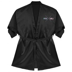 "PMG GIRLS ""MIDNIGHT"" SATIN ROBE"