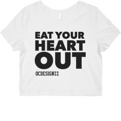 Eat Your Heart out Crop Tee