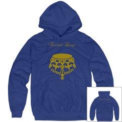 TK X ESC blue gold hoodie