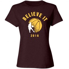 Believe It Wine/Gold Basketball