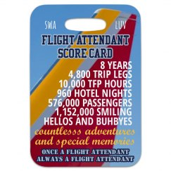 Flight Attendant score card, Customize yours!