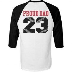 Proud Baseball Dad Shirt You Can Customize