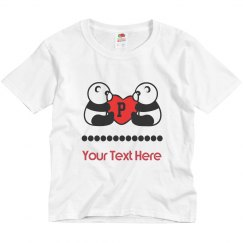 Twin Panda Bear Youth T-shirt