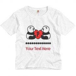 Twin Panda Bear Youth T-shirt