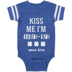 Kiss the Irish-ish Baby Vintage St. Patrick's Infant