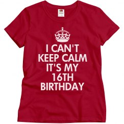 It's my 16th birthday