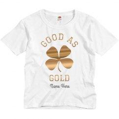 Good As Gold Irish Metallic Tee